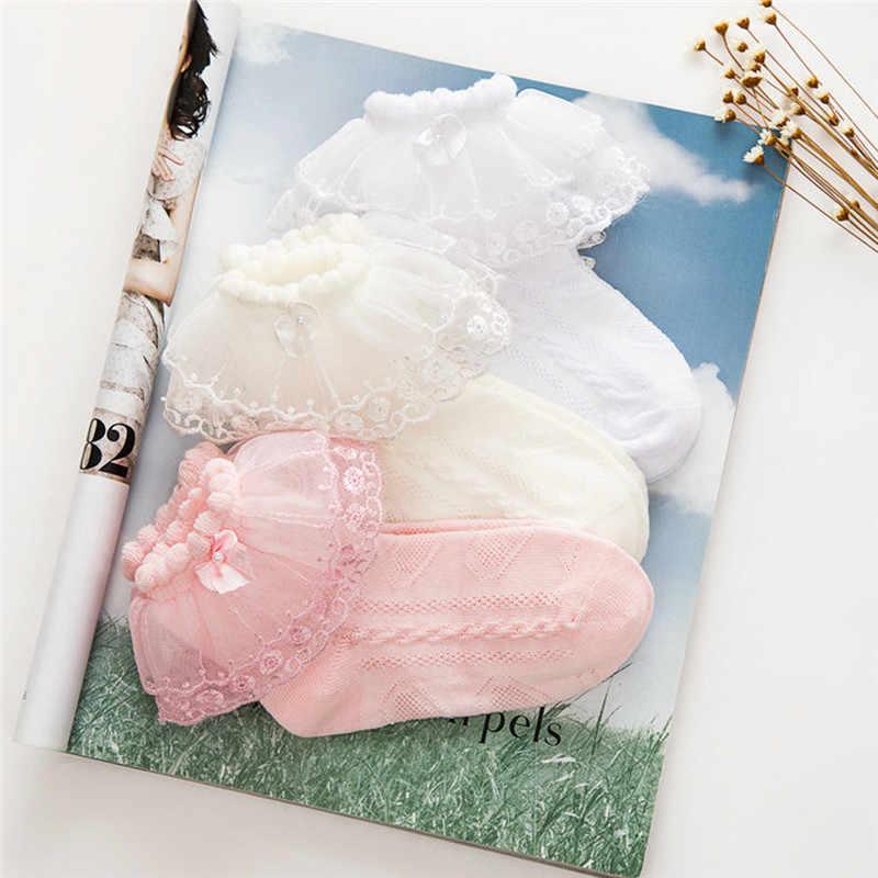Милые детские короткие носки с кружевными оборками для маленьких девочек короткие хлопковые носки-пачки принцессы для девочек, 3 вида стилей, подходит для От 2 до 12 лет