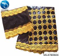 LIULANZHI bazin riche getzner 2019 avec tissu en dentelle 5 + 2 yards/lot tissu brodé dernier coton fait pour la grande fête ML47B08