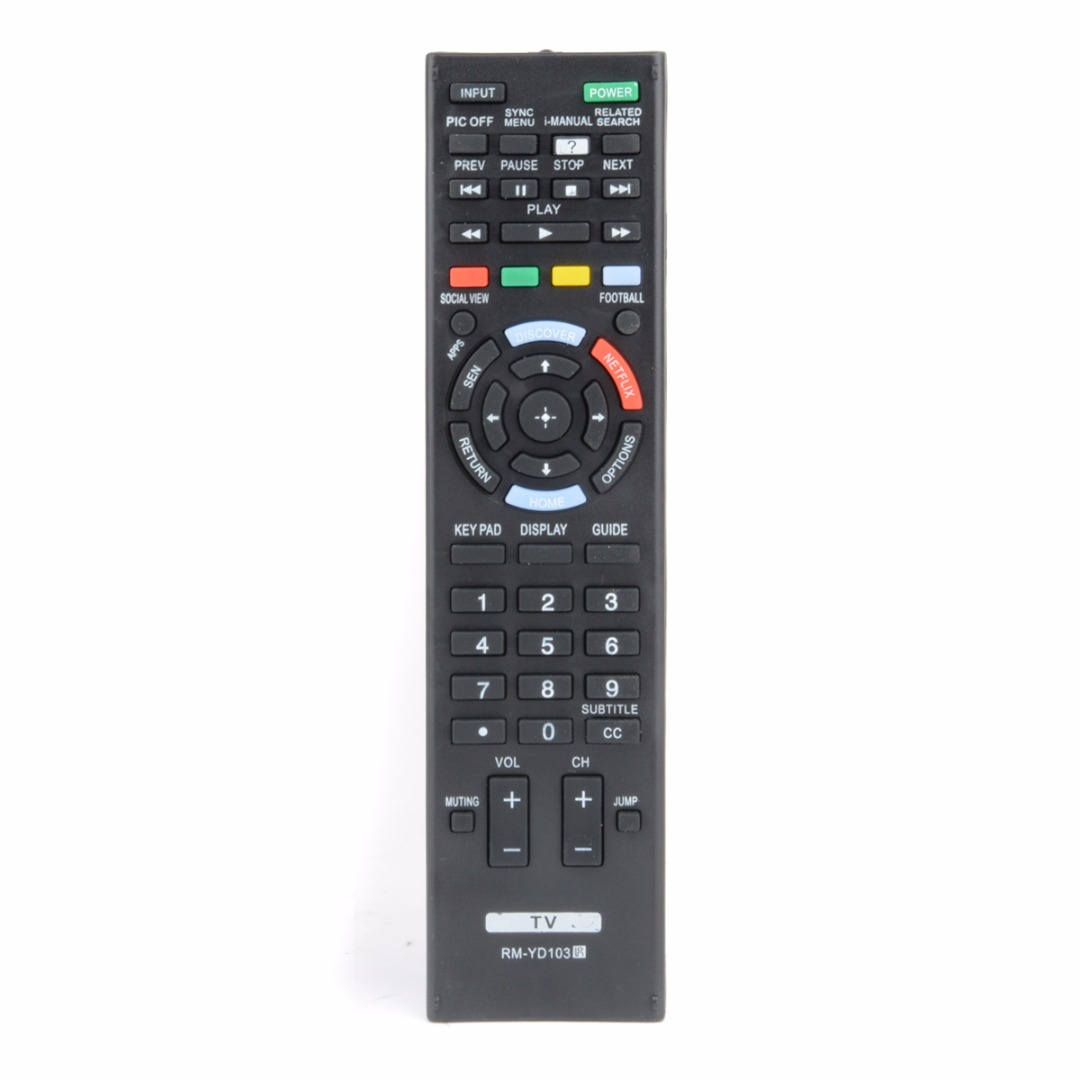 Mayitr New TV Remote Control Black Suitable For SONY Bravia