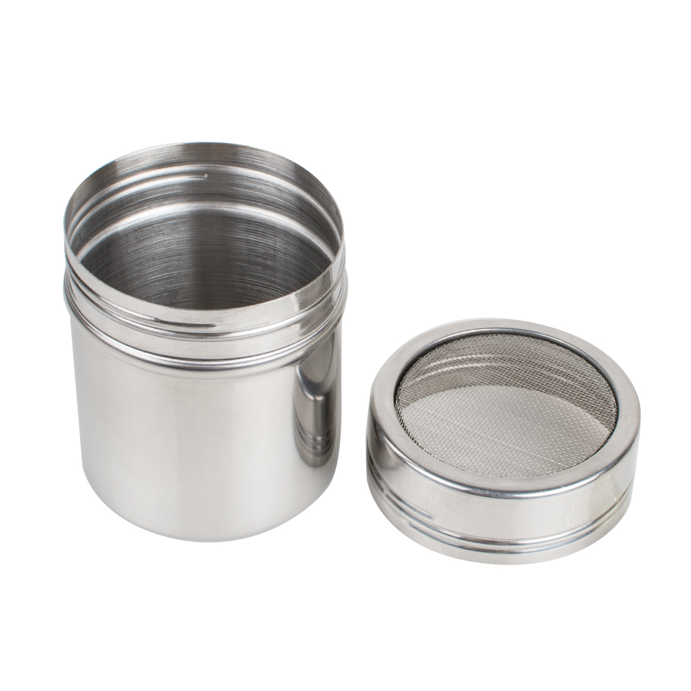 Stainless Chocolate Fine Mesh Sifter Shaker Dredge Icing Sugar Powder Cocoa Flour Coffee Sifter to Russian and Belarus
