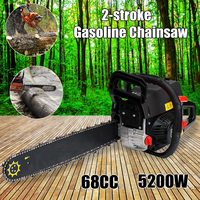 Professional Wood cutter 5200W 68CC, Mini Gasoline Chainsaw Machine Cutting Wood 2 stroke Gas Chain Saw with 20 Blade