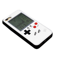 for iphone 8p retro Tetris Soft PC Silicone Console stress reliever Gameboy case