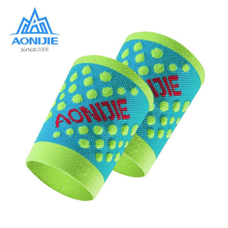 Aonijie pulsera de nailon elástica Sweatband muñequera soporte Protector muñeca baloncesto tenis 1 par 4 colores