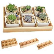 New Fleshy Flower Iron Ceramics Flowerpot Succulent Plant Wooden Box Fashion Pot Rack Bonsai