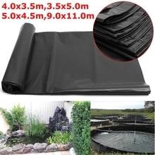 4 размера черный рыбий пруд материал для подкладки домашний сад бассейн усиленный HDPE тяжелый Ландшафтный бассейн пруд водонепроницаемый материал для подкладки
