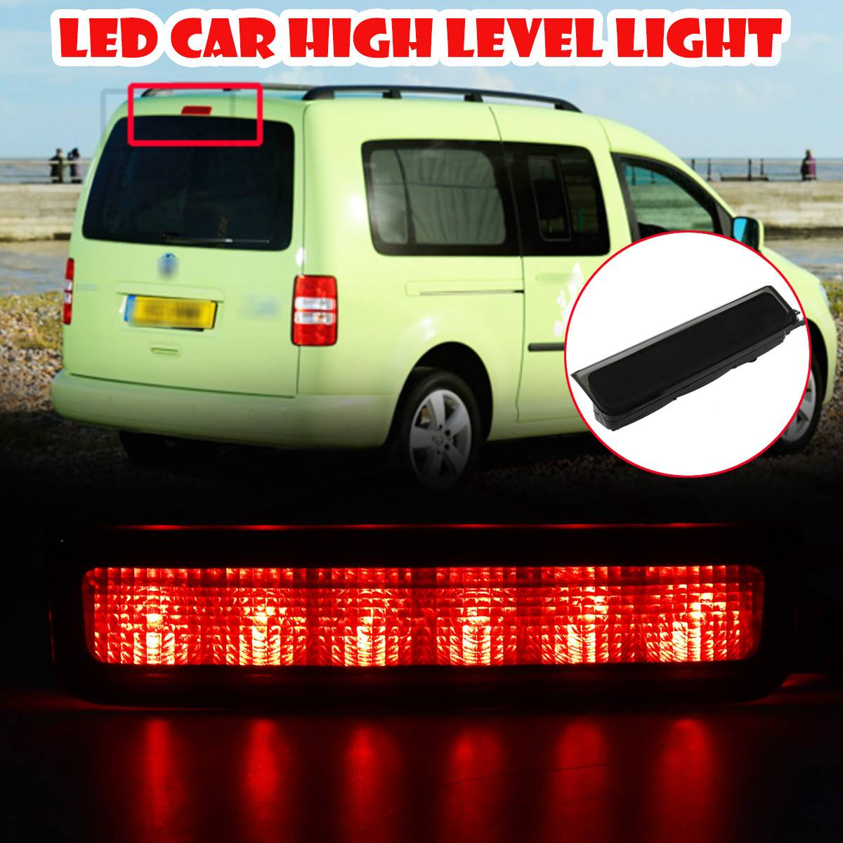 Volkswagen Caddy-High Level Brake Light 3RD Tiers-Genuine VW-Barn ou queue