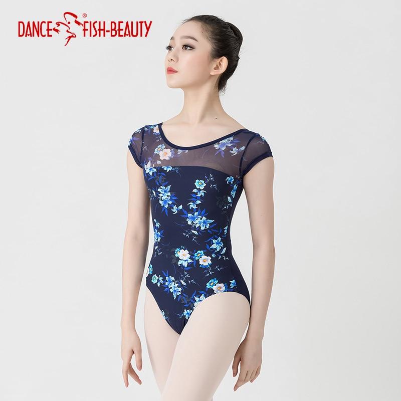 Ballett Trikots Für Frauen Yoga Sexy Dance Professional Training Gymnastik Digitaldruck Trikots Dance Fisch-schÖnheit 3540