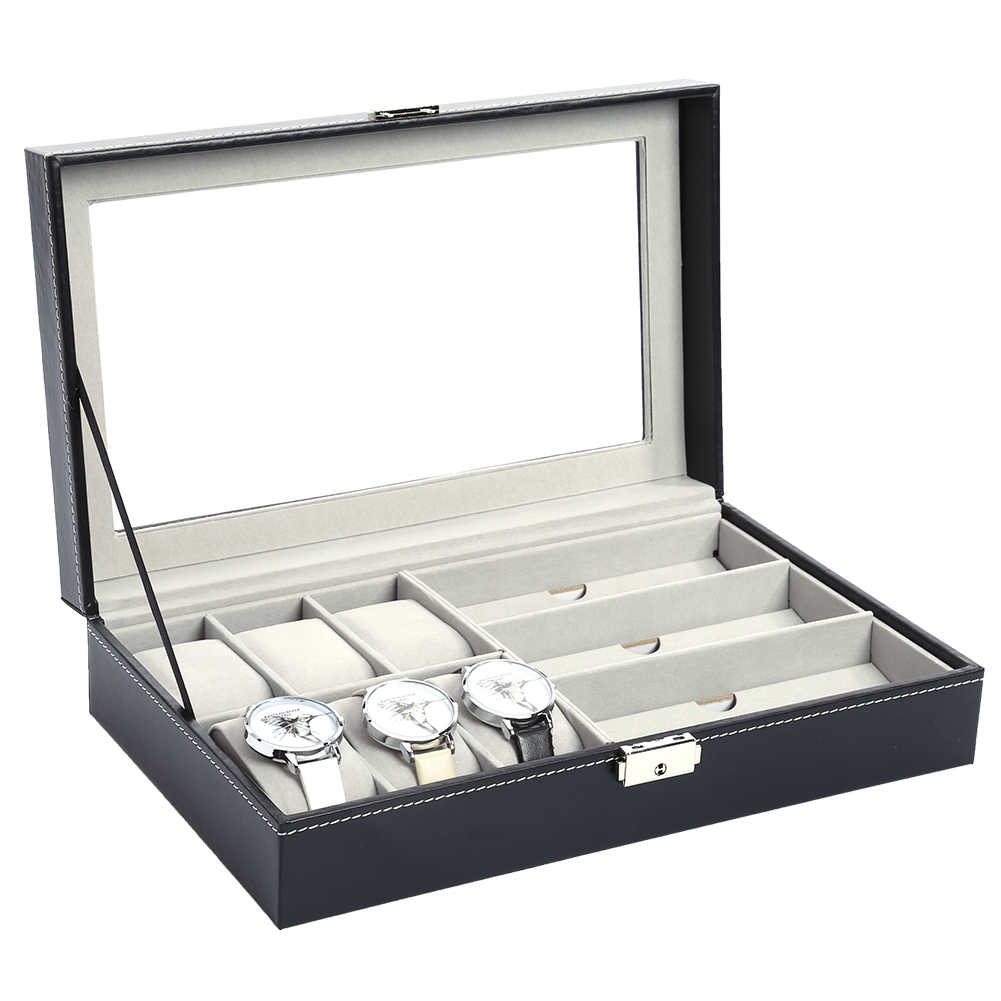 High - end Watch Box Case Glasses Display Box Multi - functional Professional Holder Organizer for Clock Watches Jewelry