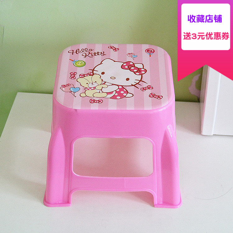 Plastic Small Stool Kindergarten Cartoon The Bench Household Adult Originality Living Room Shoes Kids Chair Furniture Dinette small square wooden stool carved jade beads on the edge of the bench burma redwood classical furniture kids chair china rosewood