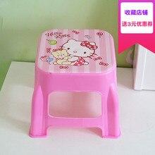 Plastique petit tabouret maternelle dessin animé le banc ménage adulte originalité salon chaussures enfants chaise meubles Dinette