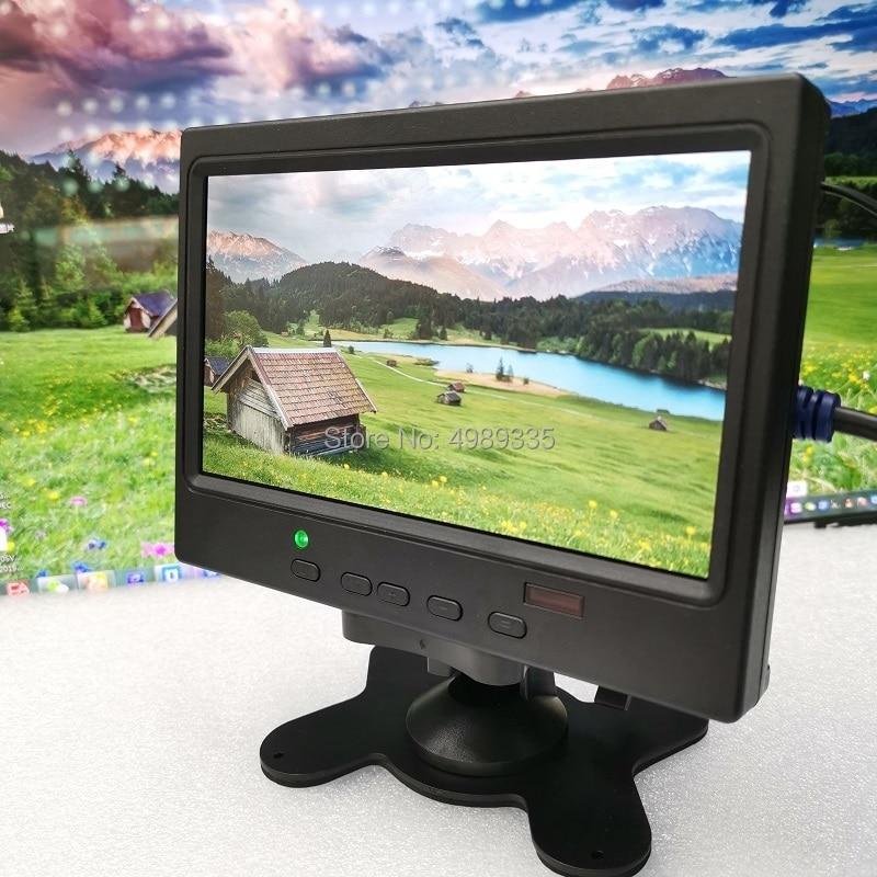7 polegadas monitor displayhd1024x600p ips tela hdmi ps4 xbox360 raspberry pi