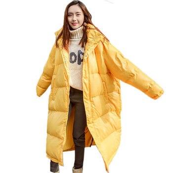 Women Winter Down Cotton Coat New Yellow Padded Jacket Warm Hooded Thicken Parka Letter Print Waterproof Wadded Overcoat  PJ310
