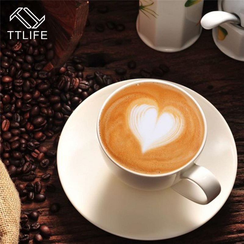 TTLIFE New HOT 16pcs/Set Fashion 8 Patterns Print Shape Coffee Mold Cappuccino Latte Essential CN