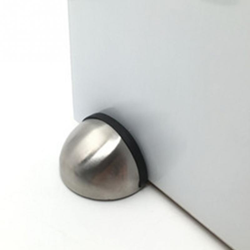 Household Hardware Door Stoppers Stainless Steel Glass Half Round Door Stop Wedge Safety Protector Stopper Block bracelet