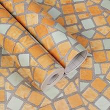 Papel tapiz autoadhesivo Moasic para cuarto de ducha adhesivo impermeable para pared de Pvc, azulejos a prueba de aceite para cocina y baño