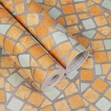 Venda casa de Banho Moasic Auto Adesivo Papel de Parede Pvc Adesivo De Parede Fashion Cozinha Oilproof À Prova D Água Da Telha Do Banheiro Adesivos