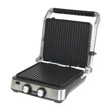 Гриль-пресс Endever Grillmaster 235 (Мощность 2000 Вт, раздельная регулировка температуры нагрева, размеры рабочей поверхности 29х26 см, открывается на 180)