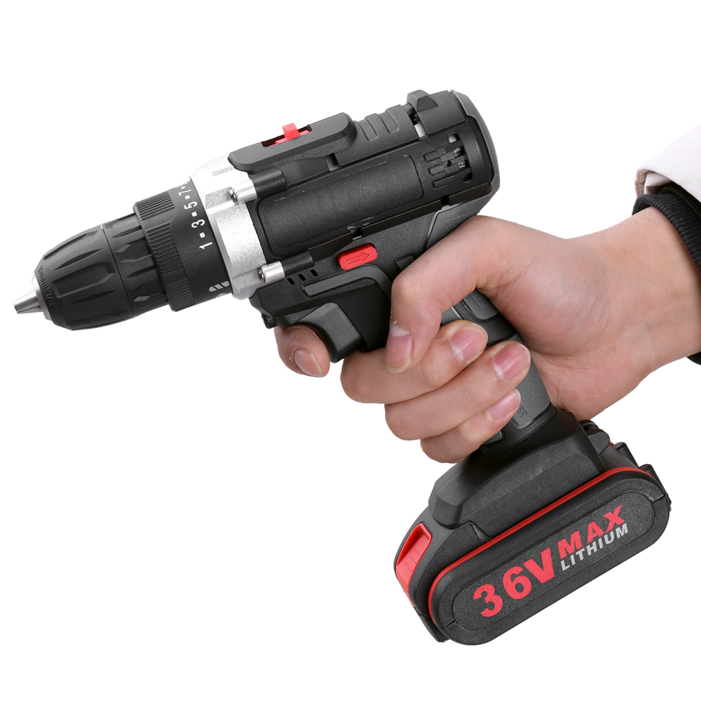 36V Multifunctional Screwdriver Cordless Drill Machine High power Lithium Battery Rechargeable Hand Drills Electric Power Tools