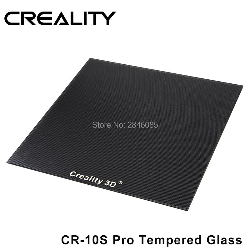CREALITY 3D CR 10S Pro Tempered Glass Build Plate Special Chemical Coating 310x320x3mm
