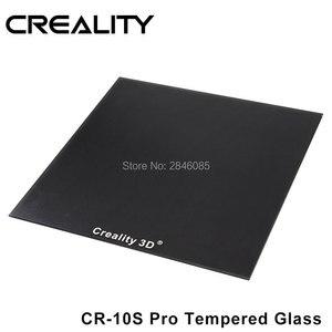 Image 1 - CREALITY 3D מזג זכוכית לבנות צלחת מיוחד כימי ציפוי גודל 310x320x3mm עבור CR 10s Pro/CR X 3D מדפסת
