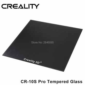 CREALITY 3D CR-10S Pro Tempered Glass Build Plate Special Chemical Coating 310x320x3mm - Category 🛒 Computer & Office