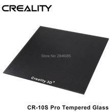 Creality 3d vidro temperado construir placa de revestimento químico especial tamanho 310x320x3mm para CR 10s pro/CR X impressora 3d