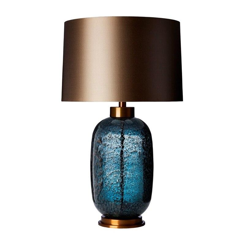 Неоклассическая Роскошная стеклянная настольная лампа, современный домашний деко, простая настольная лампа для спальни, гостиной, кровати,...