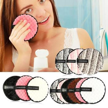 3pcs/6pcs Soft Microfiber Cosmetic Puff Cloth Pad Set Reusable Makeup Remover Cotton Pad Face Cleansing Washing Cosmetic Tools 1