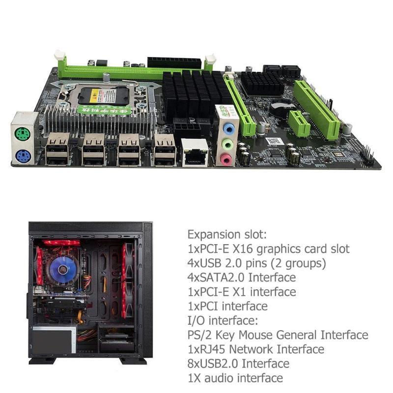 X58 Pro ordinateur de bureau PC carte mère LGA 1366 carte mère pour E5502 L5506 W3503 EC3539 LC3528 2xDDR3 DIMM carte réseau Gigabit