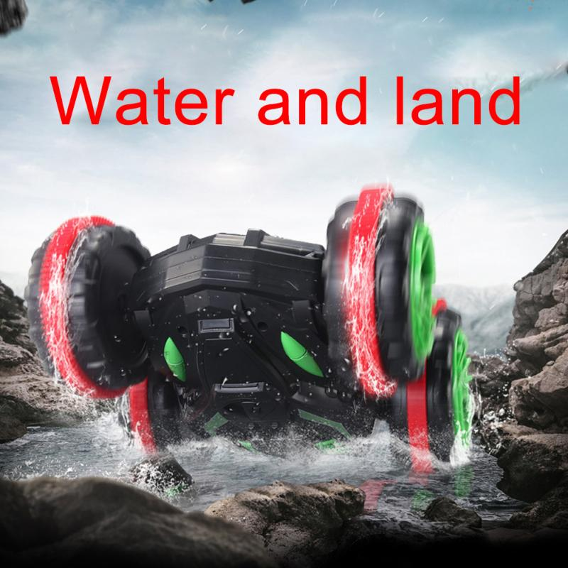 Four wheel Drive Land Remote Toy RC Car Vehicle Off Road 360 Degree Spin Waterproof Double sided Stunt Buggy Truck Amphibious