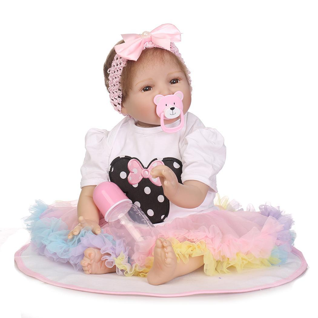 Kids Soft Silicone Realistic With Clothes Pink Reborn Collectibles, Gift, Playmate Baby Doll 2-4YearsKids Soft Silicone Realistic With Clothes Pink Reborn Collectibles, Gift, Playmate Baby Doll 2-4Years