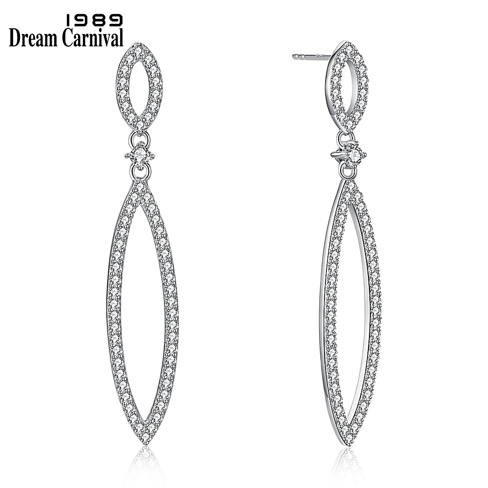 DreamCarnival 1989 Recommend Sterling Silver Zirconia Drop Earrings for Women New Year Christmas Party Must Have Gift SE18030-1SDreamCarnival 1989 Recommend Sterling Silver Zirconia Drop Earrings for Women New Year Christmas Party Must Have Gift SE18030-1S