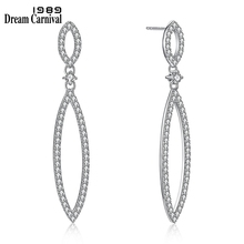 DreamCarnival 1989 Recommend Sterling Silver Zirconia Drop Earrings for Women New Year Christmas Party Must Have Gift SE18030-1S
