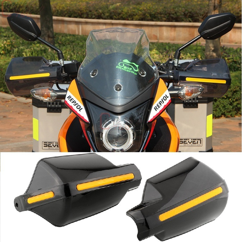 Lmodri motocicleta mão guarda handguard escudo à prova de vento moto motocross protetor universal modificação engrenagem protetora