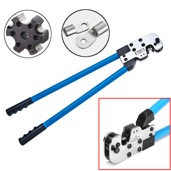 Adjustable 8-95mm Wire Terminal Crimper Tool Cable Lug Crimping Pliers AWG 8-3/0 Hand tools