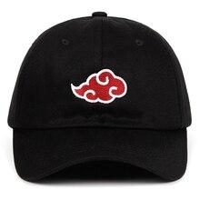 2b0168c3ed847 Algodón japonés Akatsuki logotipo Anime Naruto sombrero de papá Uchiha  familia bordado gorras de béisbol de