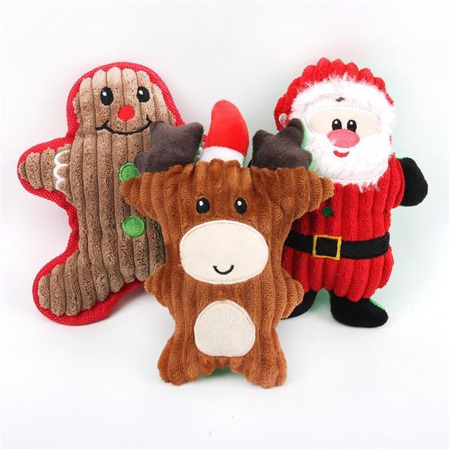 Nuovo Natale Babbo natale Pet Cane Giocattoli di Masticazione Squeaker Pet Gioca