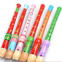 Wooden Children Musical Instruments Flute Teaching Aid Baby Toys for Early Childhood montessori preschool Music Multicolor