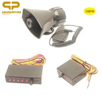 Alarm Car System Police Siren Sound Loud Speaker 100W Electric Horn MIC PA System Megaphone 12V Car for  VW Bora B5 Jetta Train