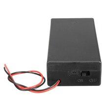 Caja de almacenamiento con conector de soporte de batería de 3,7 V 2x18650, interruptor de encendido/apagado con plomo
