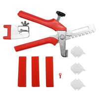 Tile Leveling System Handy Kit Ceramic Wall Floor Leveling Clips 100pcs + Wedges 100pcs + Pliers 1pc Spacers Construction Tool