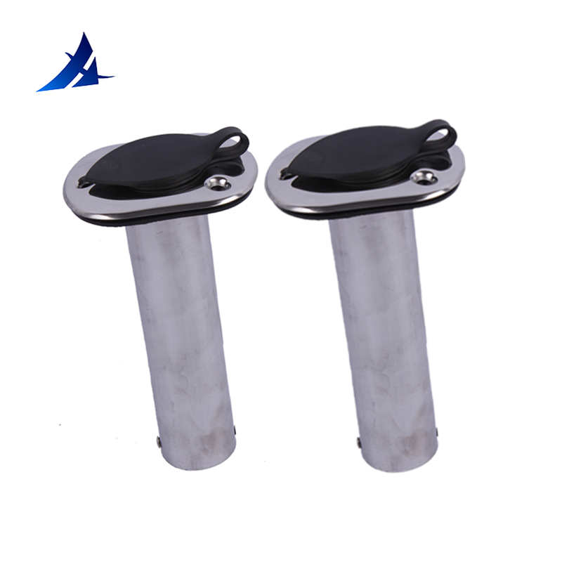 Boat Accessories Marine 2 Pieces Stainless Steel Flush Mount Fishing Rod Holder 90 Degree Rod Pod For Marine Boat
