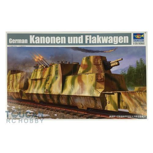 Trompetista 01511 1/35 Alemão BP-42 Trem Blindado Antiaérea Kit Caminhão Modelo de Brinquedo