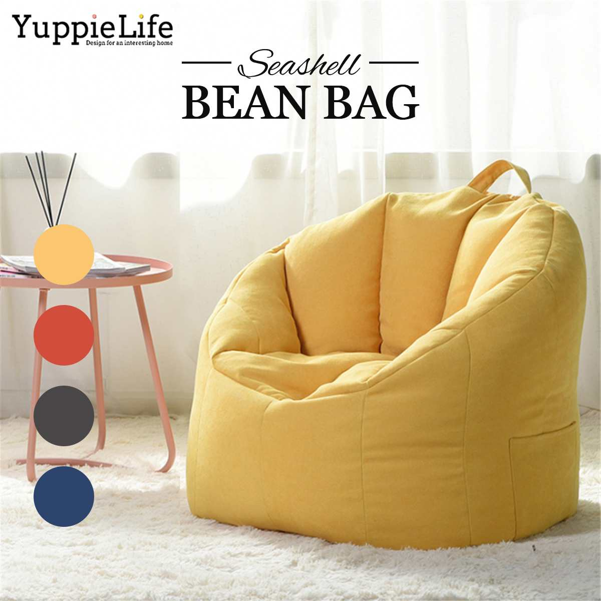Bean Bag Sofa Chair Cover Filling Bag Lounger Sofa Ottoman