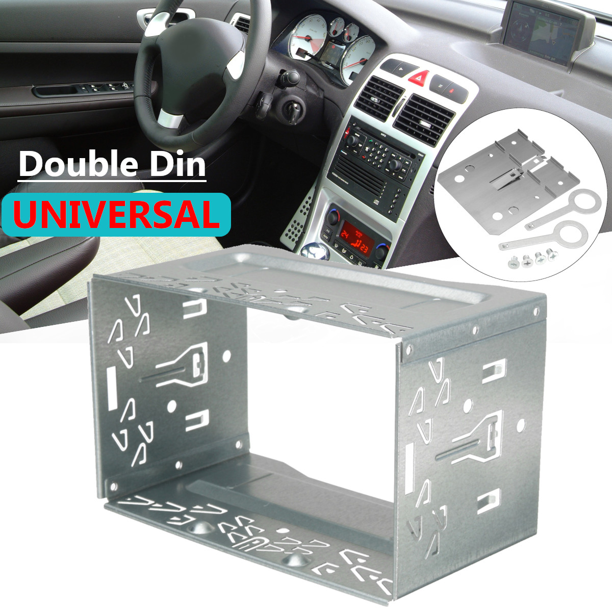 "3.94/"" DOUBLE 2 DIN CAR STEREO RADIO Dash INSTALLATION MOUNTING Trim Universal"