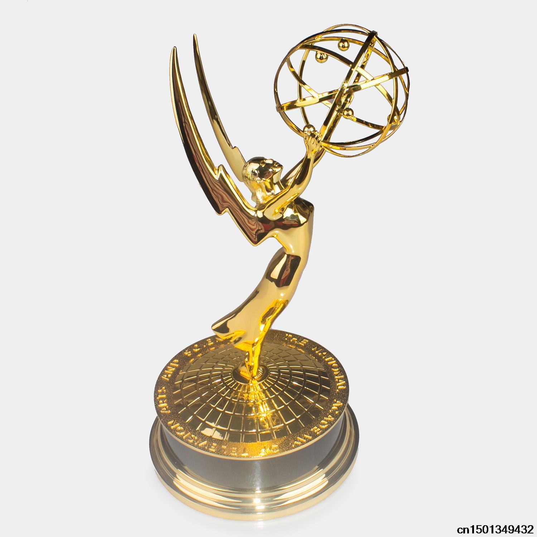 Real Life Size 39cm 1:1 Emmy Trophy Academy Awards of Merit 1:1 Metal Trophy