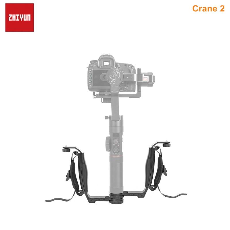 ZHIYUN Crane 2 Gimbal Accessories L Bracket TransMount Mini Dual Grip Specially Designed For Crane 2 Light Microphone Monitor zhiyun mini dual grip transmount single handle grip l bracket rig 1 4 screw connector for zhiyun crane series gimbal stabilizer