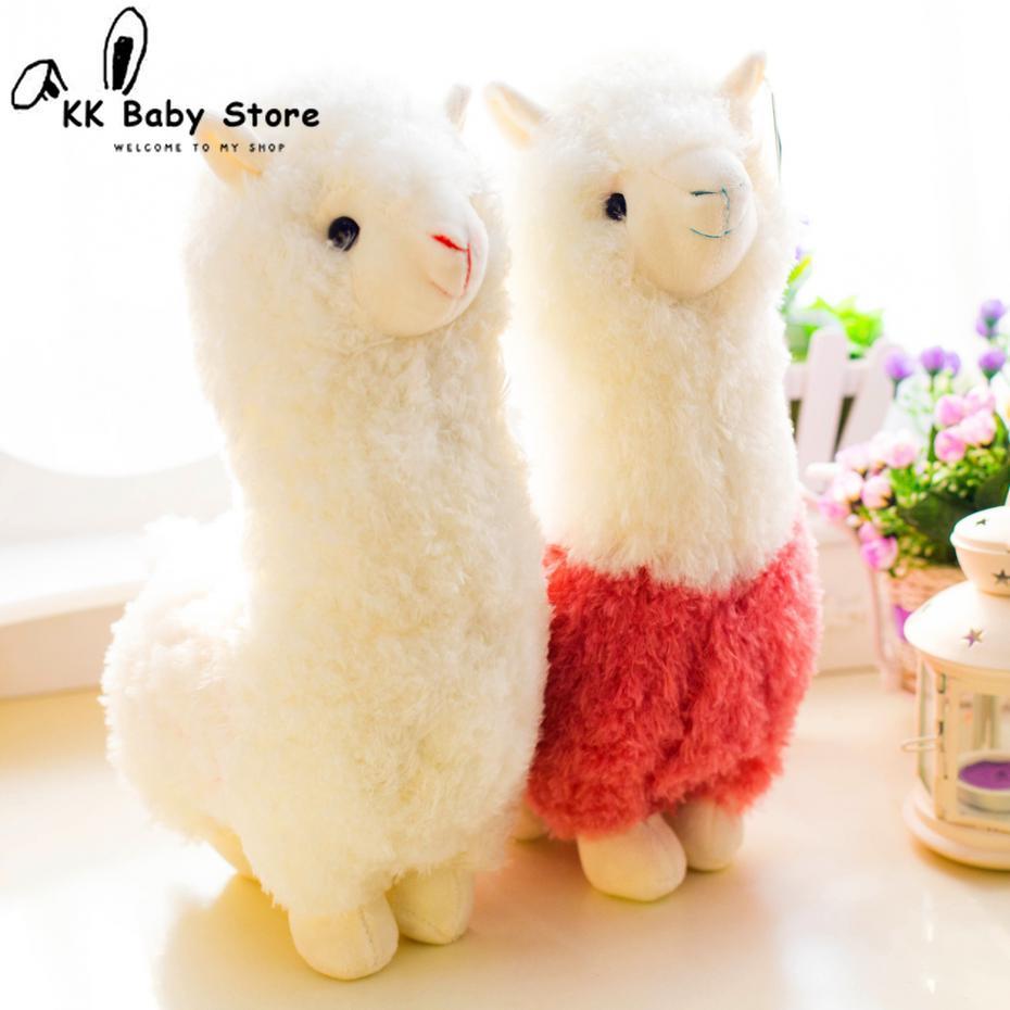Adorável 28cm dos desenhos animados alpaca pelúcia boneca brinquedo tecido ovelhas macio pelúcia animal llama yamma presente de aniversário para o bebê criança crianças