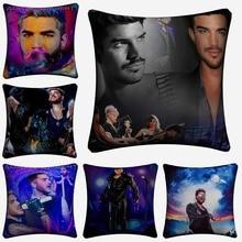 New Adam Lambert Music Star Art Decorative Cotton Linen Cushion Cover 45x45cm For Sofa Chair Pillow Case Home Decor Almofada
