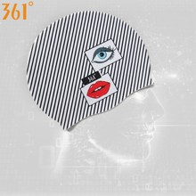 361 Fashion Swim Caps for Women Long Hair Striped Flamingo Adult Swimming Cap Silicone Waterproof Girl Hat Pool Accessories